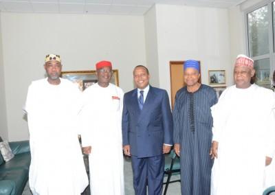 Amb Magaji, PM Trovoada, Gen Akinrinade with Gen Gusau