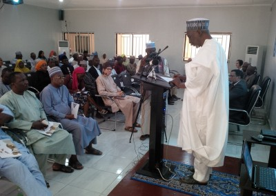 Dr Haroun Adamu Addressing Audience