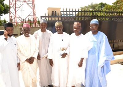 Dr Haroun Adamu second left with GI friends