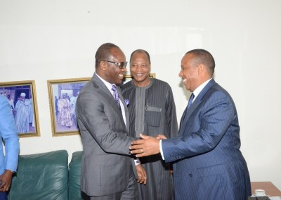 Dr Kachikwu, Dr Ibn Chambas and PM Trovoada