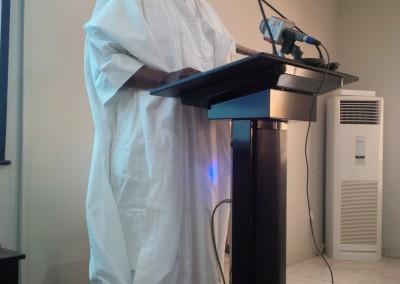 GI Director Dr Haroun Adamu Delivering Speech