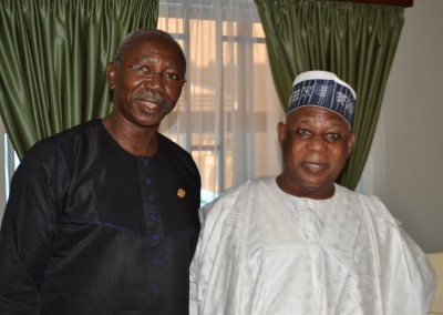 Gen Gusau and Representative of Osun State Governor