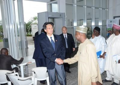 Maj Yusuf greeting Chinese Ambassador