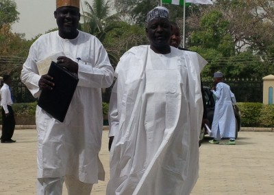 Representatives from College of Islamic Sciences Gusau, Mallam Bello and Alhaji Badamasi