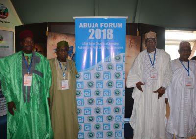 Pres. Mahamane Ousmane, Pres. Olusegun Obasanjo, Pres. Thomas Boni Yayi, Gen. Aliyu Gusau Mohammed (rtd.)