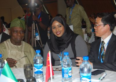 Pres. Obasanjo, Dr. Hodan Osman Abdi, Prof. Liu Hongwu