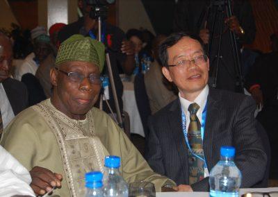 Pres. Olusegun Obasanjo, Prof. Liu Hongwu