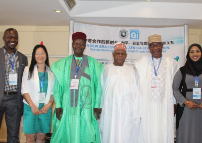 ZJNU Delegates with former Presidents and Gen. Gusau