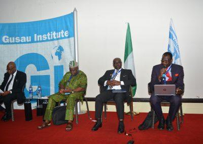 Panel 1 - Amb. Ahmed Magaji, Prof. Kemi Rotimi, AIG Austin I. Iwar rtd. Prof. Usman Tar
