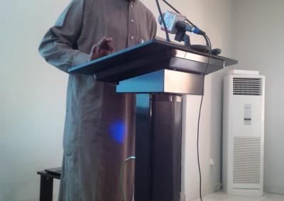 Maj Abubakar Yusuf Rtd Delivering Concluding Remarks