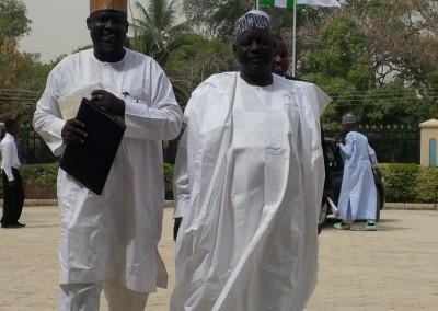 Representatives from College of Islamic Sciences Gusau, Mallam Bello and Alhaji Badamasi