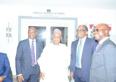 Gen Gusau with Mr Ayo Otuyalo, Mr Awolowo and Dr Kachikwu