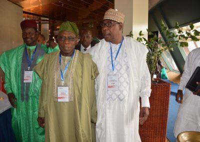 Pres. Mahamane Ousmane, Pres. Olusegun Obasanjo, Pres. Thomas Boni Yayi