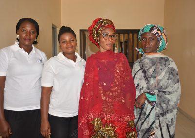 L-R Grace, Charity, Maryam, Hadiza