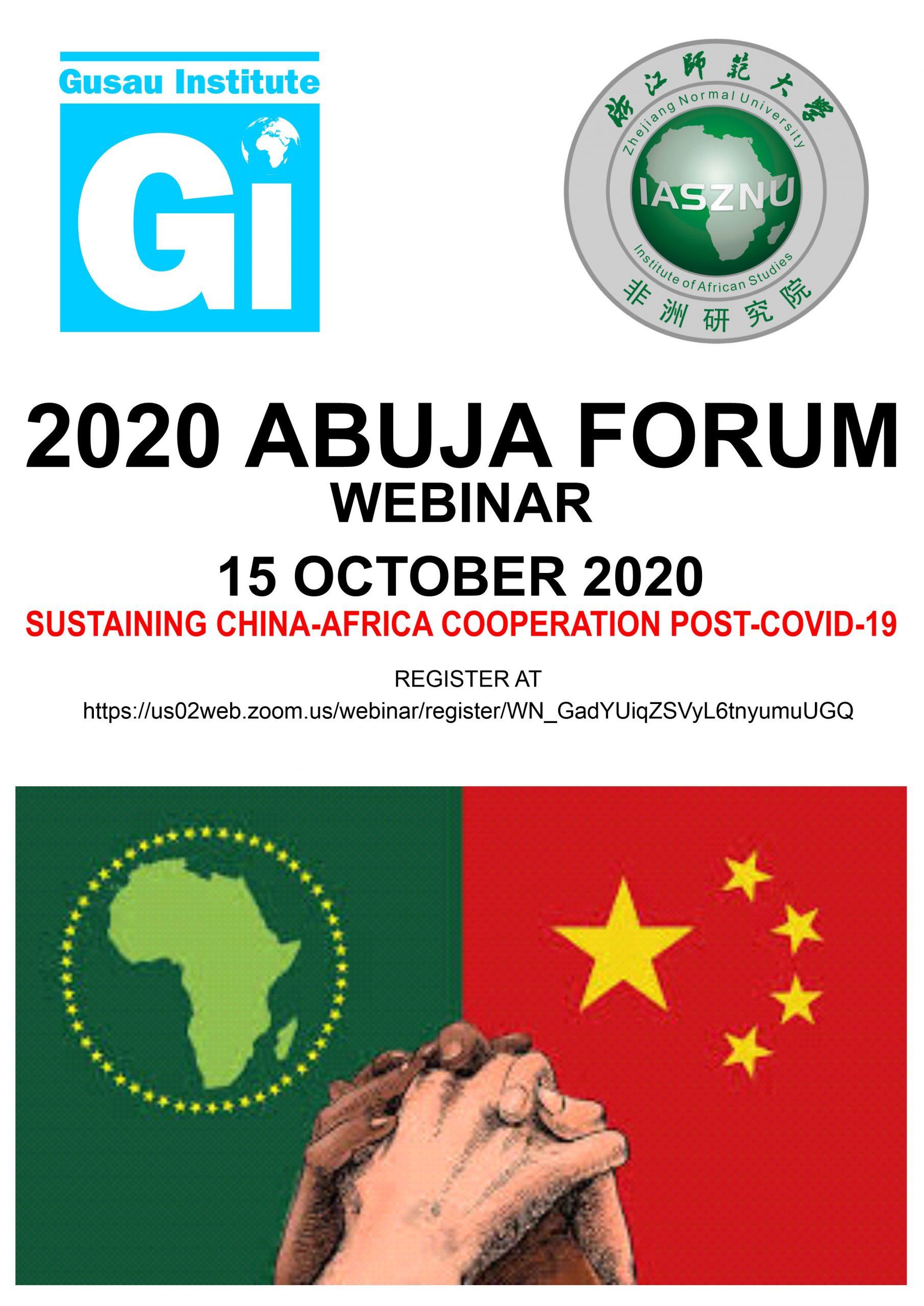 Webinar information for 2020 Abuja Forum