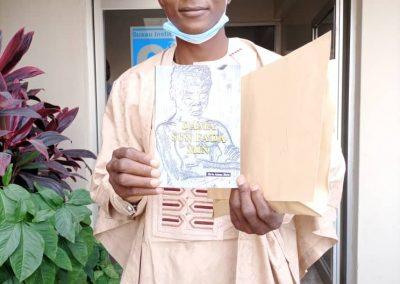 First prize winner Jibrin Adamu Jibrin
